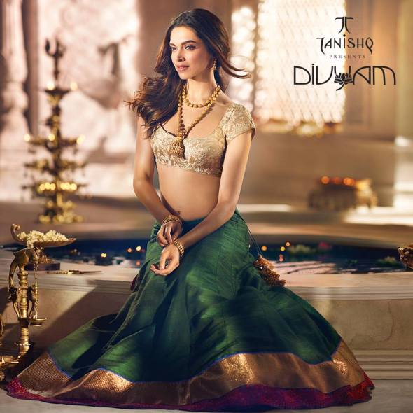 Deepika Padukone Tanishq Photoshoots